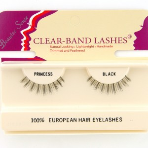 100_european_hair_eyelashes_clear_band_lashes_ princess_black