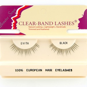 100_european_hair_eyelashes_clear_band_lashes_evita_black