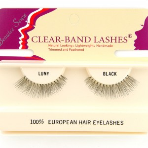 100_european_hair_eyelashes_clear_band_lashes_luny_black