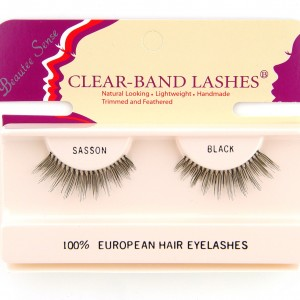 100_european_hair_eyelashes_clear_band_lashes_sasson _black