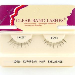 100_european_hair_eyelashes_clear_band_lashes_sweety _black